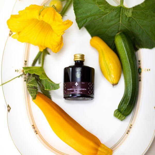 kurpitsansiemenöljy pumpkin seed oil